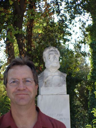 Tim in the Royal Gardens of Athens.