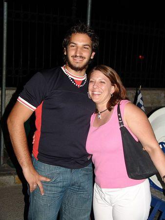 Sherri and one of her Greek guys...