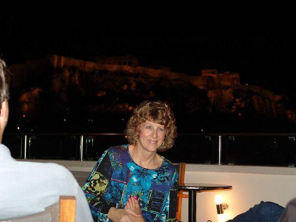 Karin on the Balcony.