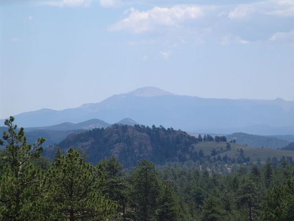 Pike's Peak seen from the deck