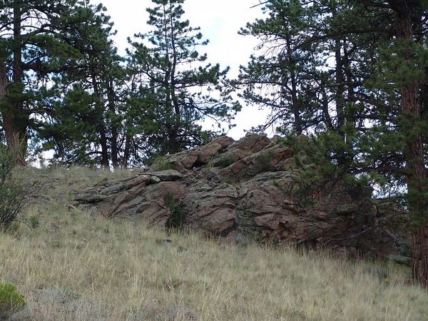 There are several rock formations like this on their property