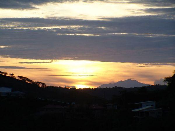 Sunrise, but a bit later - it's no longer pink.