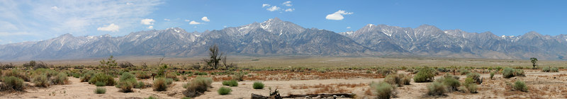 Panorama of Mt. Williamson and the eastern side of the Sierra range from Manzanar