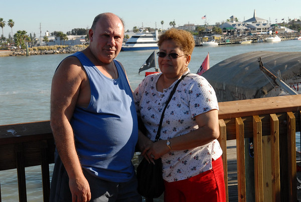 Mom and Pop at the Johns Pass boardwalk.