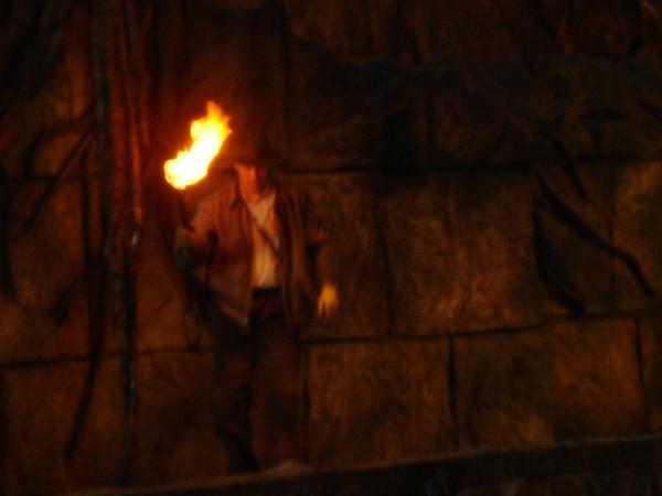 "The next 76 photos were taken at the ""Indiana Jones Stunt Show."""