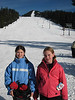 Perrin Falkner and Maddy Cripe at the base of By George