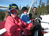 Maddy, Perrin, and Jimmy on the lift