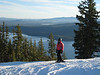 Maddy Cripe above Odell Lake