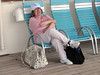 41 Sue on promenade deck chair