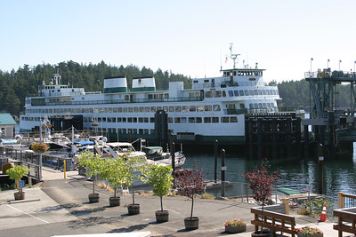 Arriving at Friday Harbor, San Juan Island.