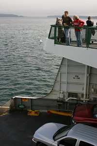 Our ferry after taking off from Anacortes Washington.
