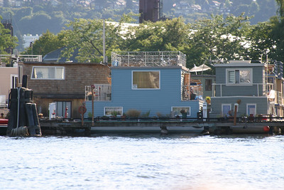 Floating homes in Lake Union.