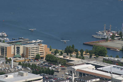 Southwest tip of Lake Union where the seaplanes takeoff.