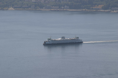 Washington State Ferry arriving at Seattle.