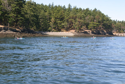 Kayakers near Roche Harbor, San Juan Island.