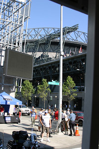 The action just outside of Safeco Field.