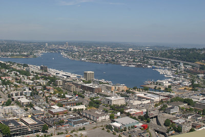 South-end of Lake Union from the Space Needle.