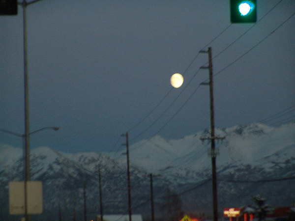 Night fall in Anchorage