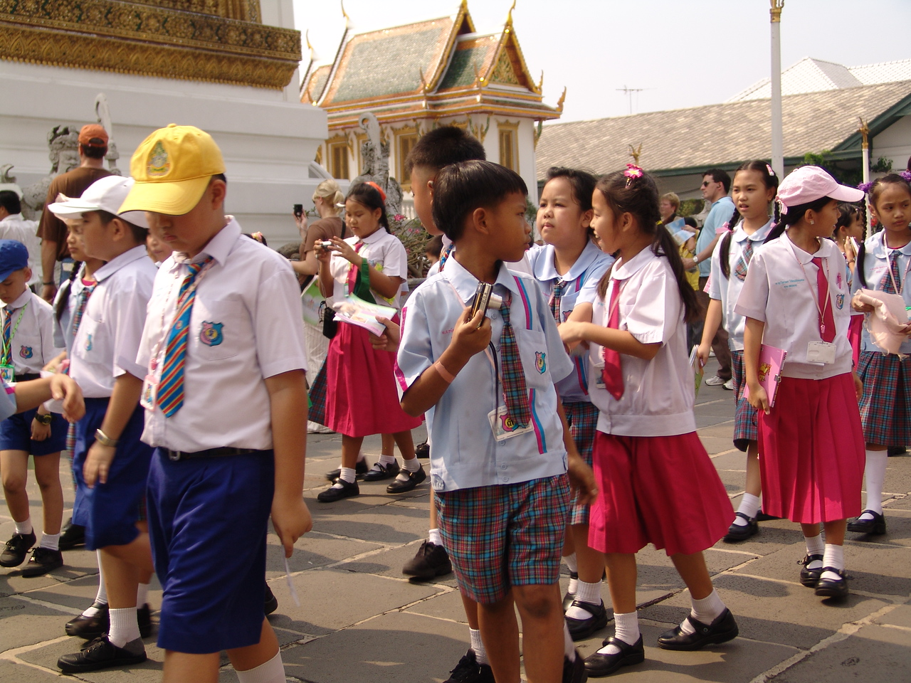 A school field trip to the Grand Palace