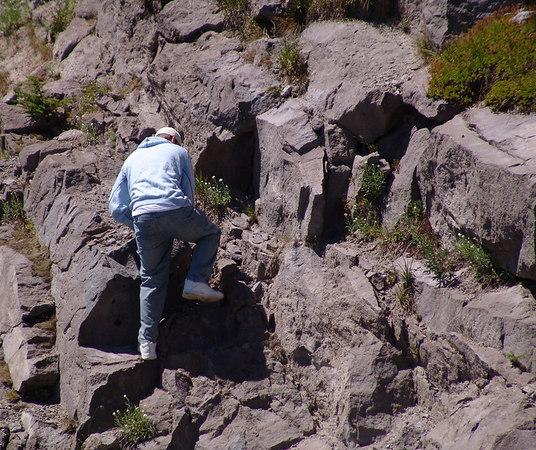 Climbing for the sake of climbing.  Alex.
