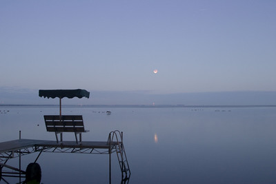 Lunar eclipse over Oneida Lake