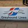 Greyhound bus station near New London ferry