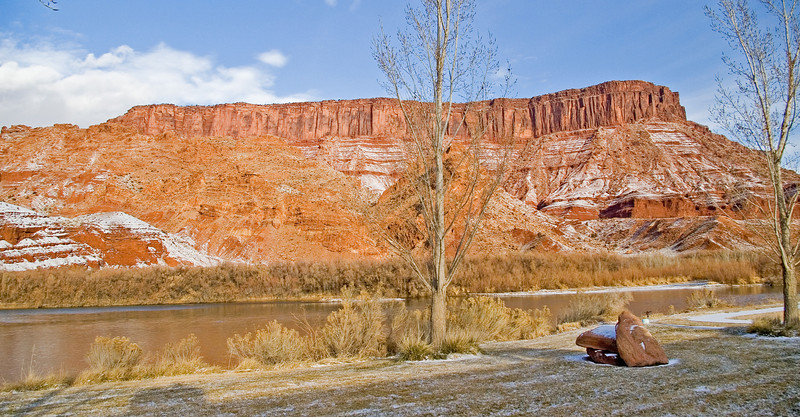 View outside our room (back) at Sorrel River Ranch Resort in east Utah.  Colorado River.