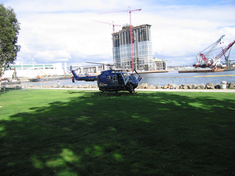 The Red Bull helicopter