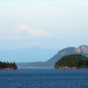 Mt. Baker looms in the distance - as seen from the Ferry from Friday Harbor back to Anacortes, WA