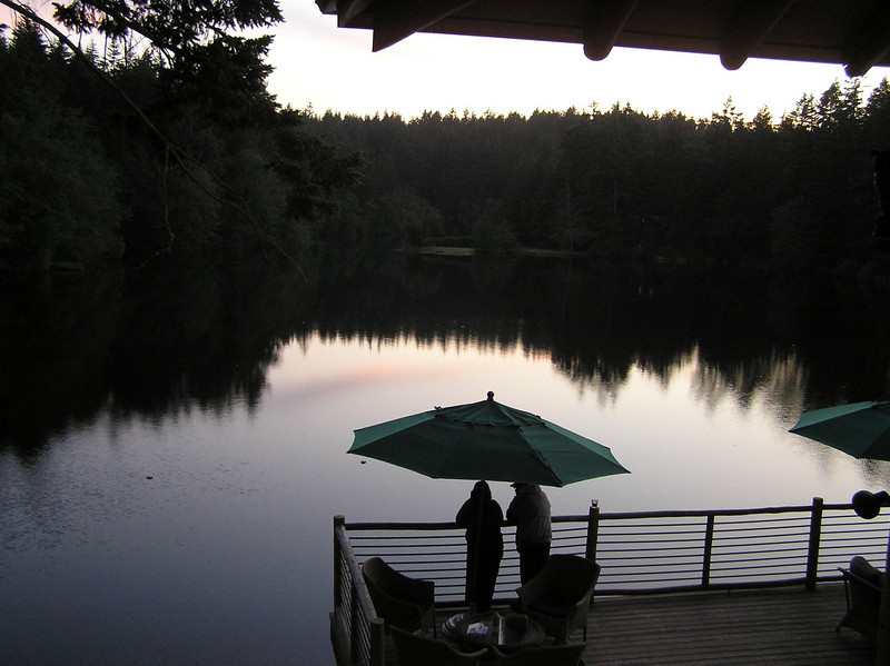 Our view from the lodge on San Juan Island (Friday Harbor)