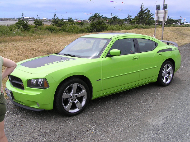 Your rental for the first part of this trip will be the new Dodge Charger complete with Daytona Hemi Package in a lovely subtle green.  Very large car, but surprisingly fun to drive too... for a slushbox
