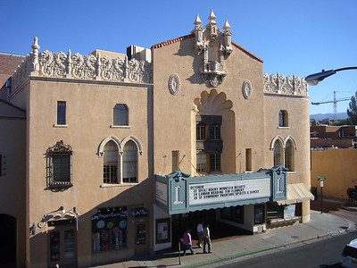 Lensic Performing Arts Center in downtown Santa Fe New Mexico