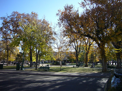 Another view of the plaza.  The Aspens were changing colors.
