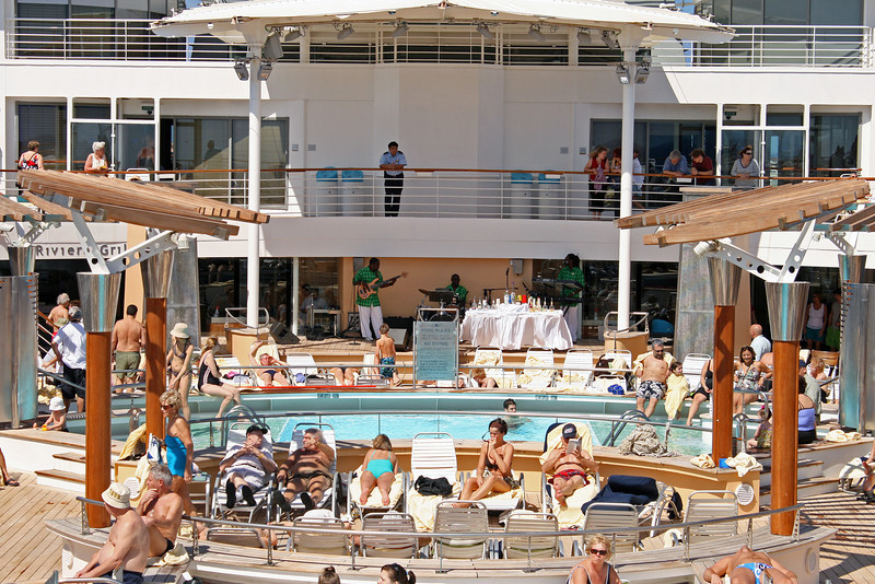The first full day of our cruise was at sea and listening to the pool band was a good way to spend some time.
