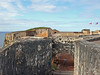 A view of the walkway leading back down to the main courtyard of Fort San Felipe del Morro.