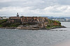 Fort San Felipe del Morro, which sits on the point that guards the entrance to the harbor at San Juan.