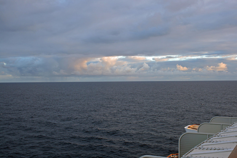 Sunrise on the third day of our cruise.