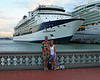 My wife and I in front of the Millennium in old San Juan.