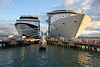 The Millennium (our ship) is on the left and the Freedom of the Seas is on the right at Pier 3 in old San Juan.