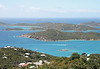 A view of the islands of St. Thomas from the top of the Paradise Point tramway ride.