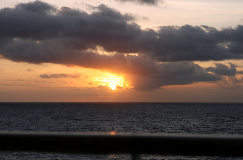 Sunrise on the fifth day of our cruise as we approach Casa de Campo in the Dominican Republic.