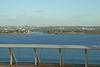 The ship actually docked in a river that runs through the city of La Romana.