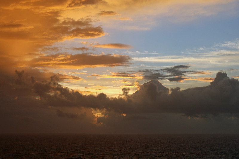 Sunrise on the seventh day of our cruise. It was another day at sea as we made our way back to Florida.