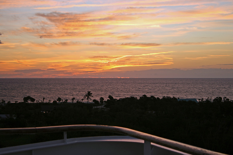 Sunrise over the Atlantic on the last day of our cruise. We are already docked at Port Everglades in Ft. Lauderdale.