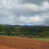 In the forefront is prepared ground for a new pineapple crop... in the background is the endless scenery we enjoyed.