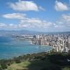 You can see for miles from the top of Diamond Head...