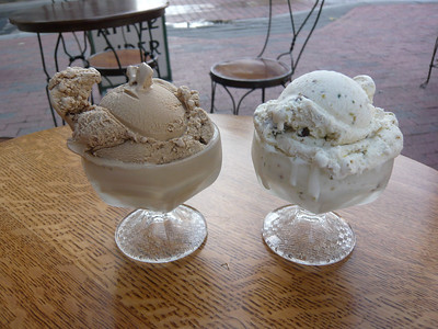 Ice cream at Franklin Fountain.  Pricey, but delicious!