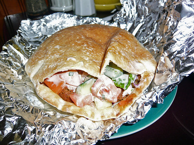 The Kibbi sandwich at Alyan's.  Excellent Middle Eastern food.