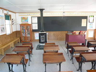 Inside an actual Amish classroom.