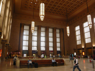 Inside the 30th Street Station.  An amazing building.